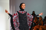 Model Halima Aden walks the runway during the Sherri Hill NYFW Spring 2020 runway show at Cipriani 42nd Street on September 06, 2019 in New York City.