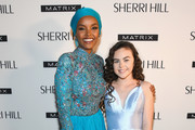 Halima Aden and Chevel Shepherd attend the Sherri Hill Show during  New York Fashion Week February 2019 on February 8, 2019 in New York City.