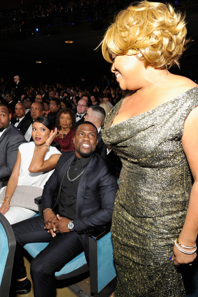 45th NAACP Image Awards Presented By TV One - Backstage And Audience [fashion,hairstyle,shoulder,event,joint,fun,dress,fashion design,long hair,performance,sherri shepherd,kevin hart,audience,naacp image awards,pasadena civic auditorium,california,tv one]