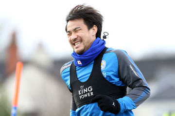 Shinji Okazaki Leicester City Training and Press Conference