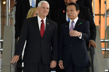 Shinzo Abe U.S. Vice President Mike Pence Starts His 2-Day Visit to Japan