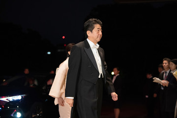 Shinzo Abe Enthronement Ceremony Of Emperor Naruhito In Japan