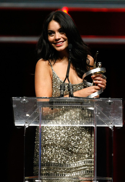 Vanessa Hudgens Actress Vanessa Hudgens accepts the Female Star of Tomorrow Award during the ShoWest awards ceremony at the Paris Las Vegas during ShoWest, the official convention of the National Association of Theatre Owners, March 18, 2010 in Las Vegas, Nevada.