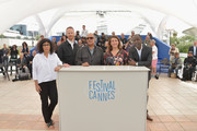(L-R) Directors Daniela Thomas, Joachim Trier, Abbas Kiarostami, Noemie Lvovsky and Mahamat Saleh Haroun attend the Short Films Jury photocall during the 67th Annual Cannes Film Festival on May 22, 2014 in Cannes, France.