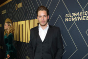 Actor Dominic Sherwood attends Showtime's Golden Globe Nominees Celebration at Sunset Tower Hotel on January 04, 2020 in West Hollywood, California.