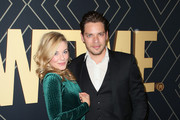 Molly Burnett and Dominic Sherwood attend Showtime's Golden Globe Nominees Celebration at Sunset Tower Hotel on January 04, 2020 in West Hollywood, California.