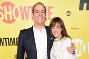 """SHOWTIME Networks President David Nevins and producer Andrea Blaugrund Nevins attend the premiere of the SHOWTIME original comedy series """"HAPPYish"""" on April 20, 2015 in New York City.  Following the screening, SHOWTIME will host a private reception for the show at The Bowery Hotel."""