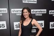 "Alicia Coppola attends the celebration of the 100th episode of Showtime's ""Shameless"" at DREAM Hollywood on June 9, 2018 in Hollywood, California."