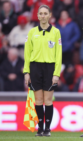 Assistant Referee Sian Massey during the Barclays Premier League match
