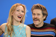 "(L-R) Dounia Sichov and Willem Dafoe pose at the ""Siberia"" photo call during the 70th Berlinale International Film Festival Berlin at Grand Hyatt Hotel on February 24, 2020 in Berlin, Germany."