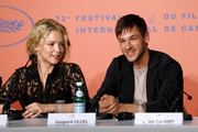 """Virginie Efira and Gaspard Ulliel attend the """"Sibyl"""" Press Conference during the 72nd annual Cannes Film Festival on May 25, 2019 in Cannes, France."""
