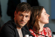"""Gaspard Ulliel and Laure Calamy attend the """"Sibyl"""" Press Conference during the 72nd annual Cannes Film Festival on May 25, 2019 in Cannes, France."""