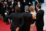 "(L-R) Actor Benicio Del Toro, director Denis Villeneuve and actors Emily Blunt and Josh Brolin attend the Premiere of ""Sicario"" during the 68th annual Cannes Film Festival on May 19, 2015 in Cannes, France."