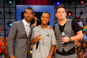 "Actor Marlon Wayans, ""106th and Park"" host Terrence and actor Channing Tatum visit BET's ""106 & Park"" at BET Studios on August 3, 2009 in New York City."