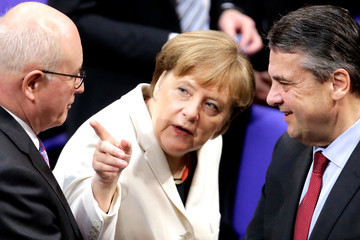 Sigmar Gabriel New German Government Sworn In, Merkel Takes Fourth Term