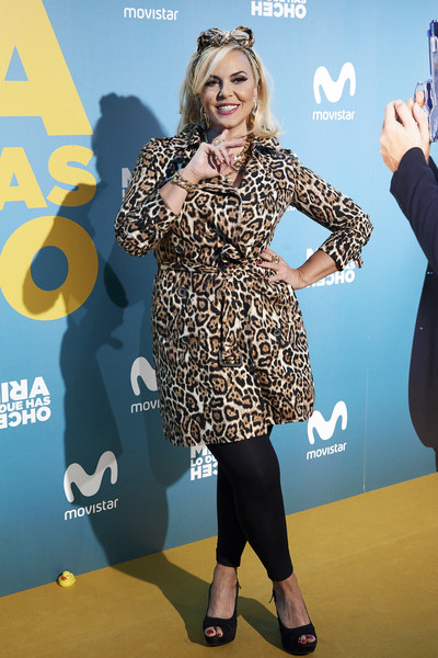'Mira Lo Que Has Hecho' Second Season Premiere In Madrid [premiere,yellow,fashion,carpet,dress,footwear,event,electric blue,flooring,style,silvia superstar,second,capitol,february 21,mira lo que has hecho second season premiere in madrid,madrid,spain]