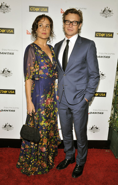 Simon Baker Simon Baker and wife arrive for the 9th Annual G'Day USA ...