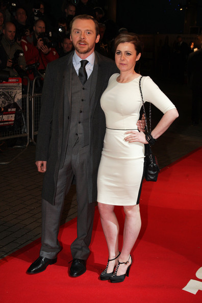 Simon Pegg with charming, Wife Maureen McCann