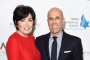 Marilyn Katzenberg and Jeffrey Katzenberg attend Simon Wiesenthal Center's 2019 National Tribute Dinner at The Beverly Hilton Hotel on April 10, 2019 in Beverly Hills, California.