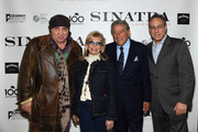 "Steven Van Zandt, Nancy Sinatra, Tony Bennett and Max Weinberg attend Jack Daniel's Sinatra Select celebration of the Grammy Museum's ""Sinatra: An American Icon"" at The New York Public Library of Performing Arts on March 3, 2015 in New York City."