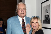 "(EXCLUSIVE COVERAGE) (L-R) Actor Robert Osborne and Nancy Sinatra attend the ""Sinatra"" book launch event at Saks Fifth Avenue on July 23, 2015 in New York City."