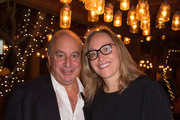 Philip Green and Jackie Soffer attend Sir Philip Green Hosts Dinner In Celebration Of Topshop Topman Miami Store Opening at Cecconi's at Soho Beach House on November 18, 2017 in Miami Beach, Florida.