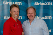 Host David Marr III and two-time Masters champion Bernhard Langer broadcast live on SiriusXM from The Masters on April 08, 2019 in Augusta, Georgia.