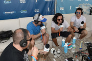 Head of EDM Programming of SiriusXM Geronimo and SiriusXM Host Danny Valentino interview Feenixpawl at SiriusXM Celebrates 10th Anniversary Of The SiriusXM Music Lounge At 1 Hotel South Beach Leading Up To Ultra Music Festival; SiriusXM Music Lounge Airs Live On SiriusXM's UMF Radio  - Day 2 on March 17, 2016 in Miami, Florida.