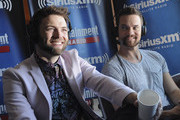 Actors Seth Gabel and Shane West attend SiriusXM's Entertainment Weekly Radio Channel Broadcasts From Comic-Con 2015 at Hard Rock Hotel San Diego on July 11, 2015 in San Diego, California.