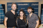 (L-R) Charles Kelley, Hillary Scott and Dave Haywood of Lady Antebellum attend the SiriusXM's The Highway broadcast backstage leading up to Academy of Country Music Awards at MGM Grand Garden Arena on April 6, 2019 in Las Vegas, Nevada.