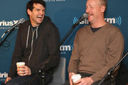 """Timothy Simons (L) and Matt Walsh attend SiriusXM's Julie Mason Hosts """"Inside Veep,"""" A Special Event With Veep's Frank Rich, Matt Walsh, Timothy Simons, And Kevin Dunn at SiriusXM Studios on April 8, 2015 in New York City."""