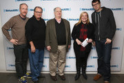 """Matt Walsh, Kevin Dunn, Frank Rich, Julie Mason and Timothy Simons attend SiriusXM's Julie Mason Hosts """"Inside Veep,"""" A Special Event With Veep's Frank Rich, Matt Walsh, Timothy Simons, And Kevin Dunn at SiriusXM Studios on April 8, 2015 in New York City."""