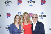"""Julia Cunningham, Julia Roberts and Jess Cagle attend SiriusXM's Launch of """"The Jess Cagle Show"""" From The SiriusXM Hollywood Studios on September 16, 2019 in Los Angeles, California."""