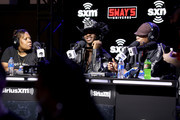(L-R) SiriusXM host, Heather B, artist Lil Nas X and SiriusXM host, Sway Calloway speak onstage during day 3 of SiriusXM at Super Bowl LIV on January 31, 2020 in Miami, Florida.