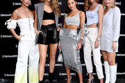 (L-R) SI Models Jasmine Sanders, Kate Bock, Olivia Culpo, Josephine Skriver, and Camille Kostek attend day 3 of SiriusXM at Super Bowl LIV on January 31, 2020 in Miami, Florida.