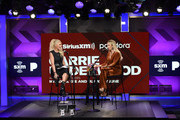 Jenny McCarthy and Carrie Underwood attend SiriusXM's Town Hall With Carrie Underwood Hosted By SiriusXM's Jenny McCarthy At The SiriusXM Studios on September 11, 2019 in Los Angeles, California.