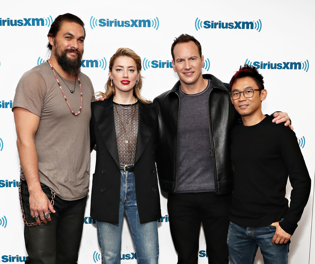 Amber Heard Ben Affleck Jason Momoa E Henry Cavill Foto: James Wan In SiriusXM's Town Hall With The Cast Of