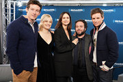 """Actors Callum Turner, Alison Sudol, Katherine Waterston, Dan Fogler and Eddie Redmayne take part in SiriusXM's Town Hall with the cast of """"Fantastic Beasts:The Crimes Of Grindelwald' on Entertainment Weekly Radio hosted by Jess Cagle at the SiriusXM Studio on November 5, 2018 in New York City."""