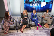 Salma Hayek, Jennifer Coolidge, Rose Byrne and Tiffany Haddish speak during SiriusXM's Town Hall with the cast of 'Like A Boss' hosted by Hoda Kotb at the SiriusXM Studio on January 8, 2020 in New York City.