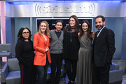 (L-R) Alex Borstein, Rachel Brosnahan, Michael Zegen, Michelle Collins, Marin Hinkle and Tony Shalhoub attend SiriusXM's Town Hall with the cast of 'The Marvelous Mrs. Maisel' hosted by SiriusXM's Michelle Collins on December 04, 2019 in New York City.
