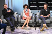 """(L-R) Actors Alec Baldwin, Gugu Mbatha-Raw and Edward Norton attend SiriusXM's Town Hall with the cast of """"Motherless Brooklyn"""" on October 21, 2019 in New York City."""