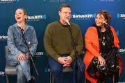 (L-R) Actors Lecy Goranson, John Goodman and Roseanne Barr speak during SiriusXM's Town Hall with the cast of Roseanne on March 27, 2018 in New York City.