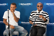 Bow Wow and Jermaine Dupri take part in SiriusXM's Town Hall with Jermaine Dupri at SiriusXM Studios on June 15, 2018 in New York City.