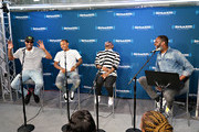 Pimpin, Bow Wow and Jermaine Dupri take part in SiriusXM's Town Hall with Jermaine Dupri hosted by Dion Summers at SiriusXM Studios on June 15, 2018 in New York City.