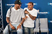 Pimpin and Bow Wow take part in SiriusXM's Town Hall with Jermaine Dupri at SiriusXM Studios on June 15, 2018 in New York City.