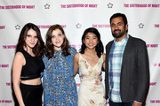 (L-R) Actresses Kara Hayward, Georgie Henley, Willa Cuthrell-Tuttleman and actor Kal Penn attend The Sisterhood Of Night NY Premiere and After Party on April 2, 2015 in New York City.