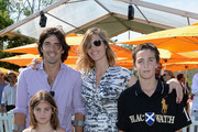 (L-R) Nacho Figueras, Delfina Blaquier,  Hilario Figueras, Aurora Figueras and Artemio Figueras attend the sixth annual Veuve Clicquot Polo Classic on June 1, 2013 in Jersey City.
