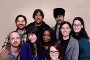 Actor Aaron Paul, director/writer James Ponsoldt, producer Jonathan Schwartz, actor Nick Offerman, actresses Mary Elizabeth Winstead, Octavia Spencer, Megan Mullally and producers Andrea Sperling and Jennifer Cochis pose for a portrait during the 2012 Sundance Film Festival at the Getty Images Portrait Studio at T-Mobile Village at the Lift on January 22, 2012 in Park City, Utah.