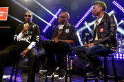 Rapper Snoop Dogg, radio personality Big Boy and producer/Recording artist Pharrell Williams speak onstage during Snoop Dogg Live on the Honda Stage at iHeartRadio Theater on May 11, 2015 in Burbank, California.