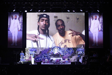 Snoop Dogg Nipsey Hussle's Celebration Of Life - Inside